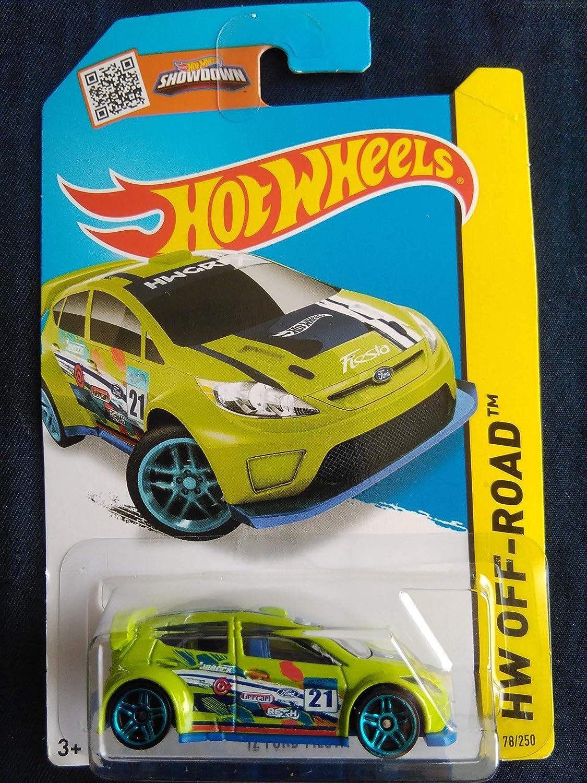 Hot Wheels 2015 Hw Off Road 12 Ford Fiesta Neon Green Die Cast Vehicle 78 250