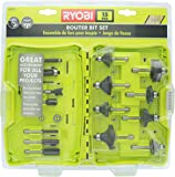 Ryobi A25R151 15 Piece 1/4 Inch Shank Carbide Edge Router Bit Set for Wood