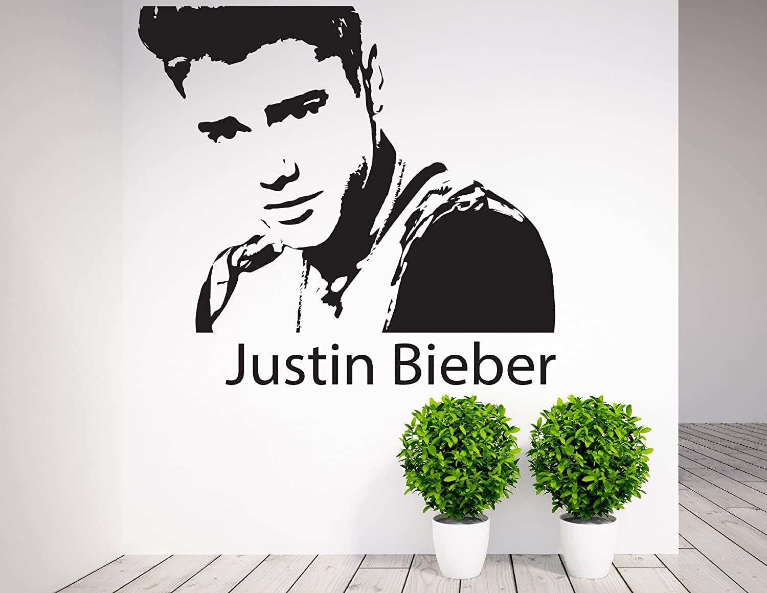 Justin Bieber , Wall Art, Celebrity, Icons, Famous People   Vinyl Sticker  Wall Art Deco Decal   50cm Height,50cm Width   Black Vinyl: Amazon.co.uk:  Car U0026 ... Part 61