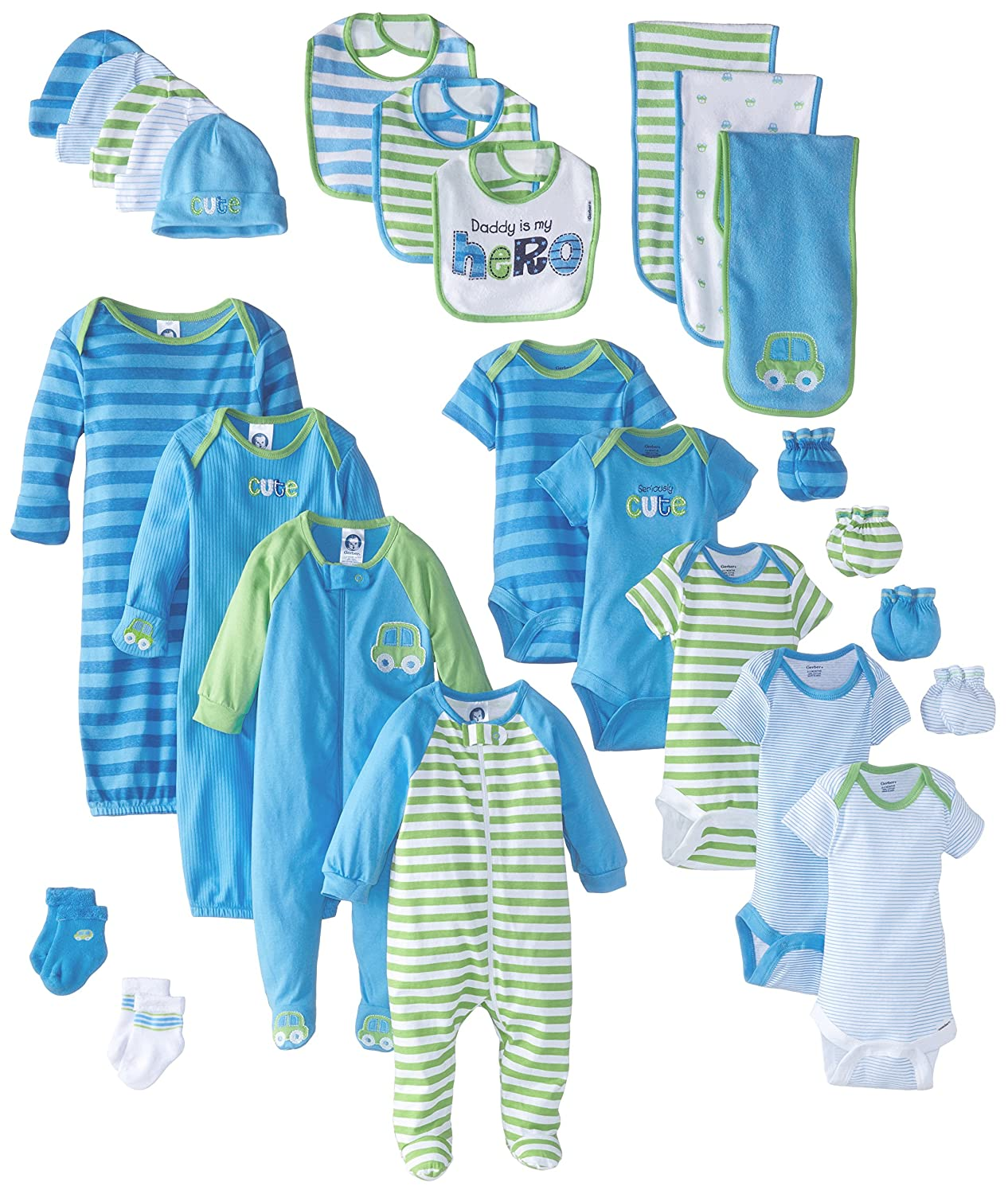 Gerber Baby Girls' 26 Piece Essentials Gift Set Birdie 0-3 Months Gerber Children' s Apparel 95789016AG17AST