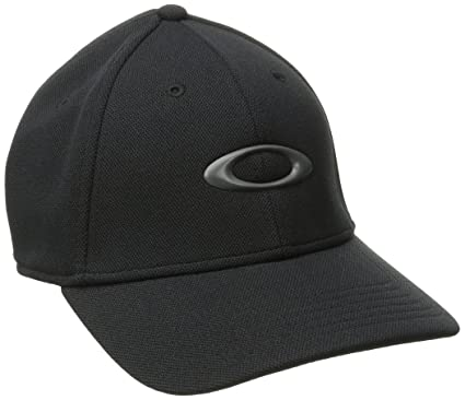 Oakley Mens Silicon 2.0 Flexfit Hat Small Medium Black 7d45f463f07f