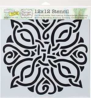 Amazon celtic scroll corner wall stencil sku 3595 by crafters workshop tcw731 template 12x12 celtic knot pronofoot35fo Image collections