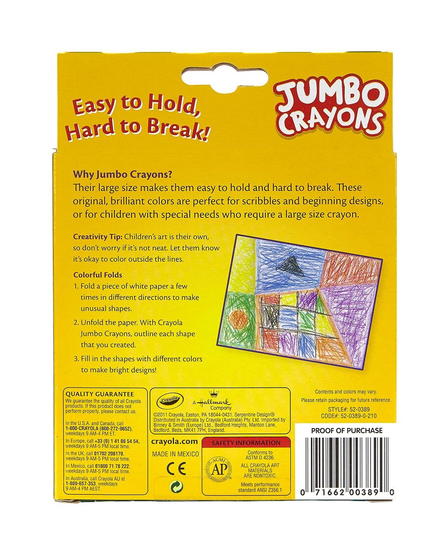 Amazon.com: Crayola Jumbo Crayons - 8 ct: Toys & Games
