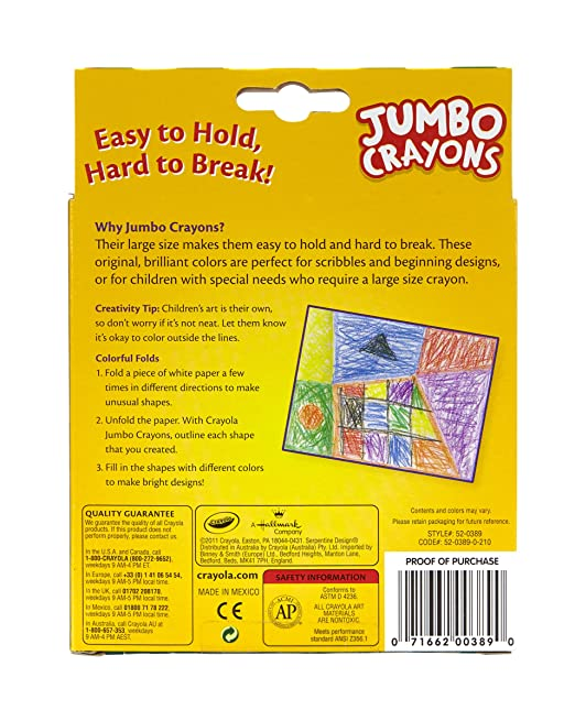 amazoncom crayola jumbo crayons 8 ct toys games - Crayon To Color