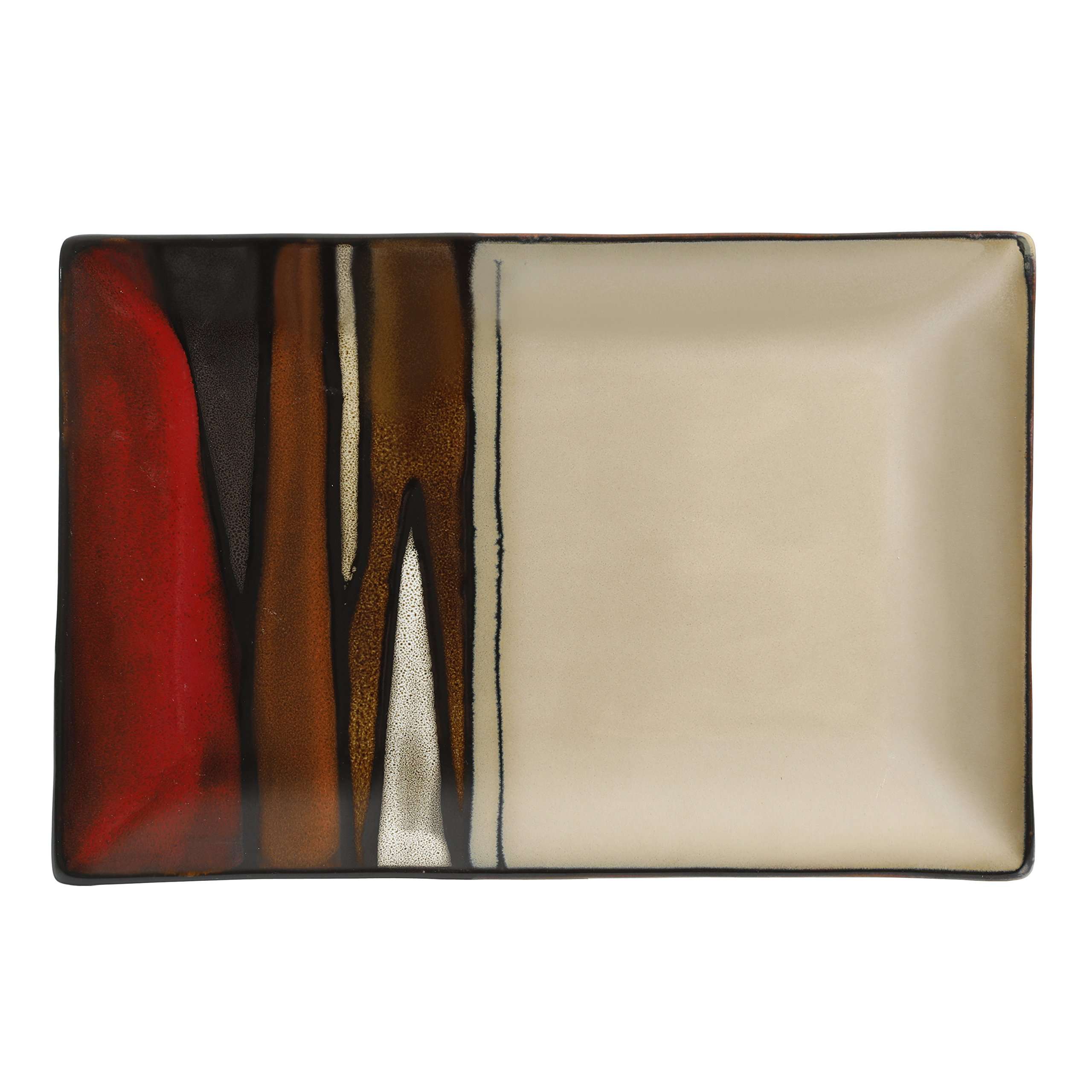 Gibson Overseas, Inc. 99837.01RM Matrice Red Serving Platter, Multi color