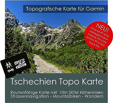 República Checa Garmin tarjeta Topo 4 GB MicroSD. Mapa Topográfico ...
