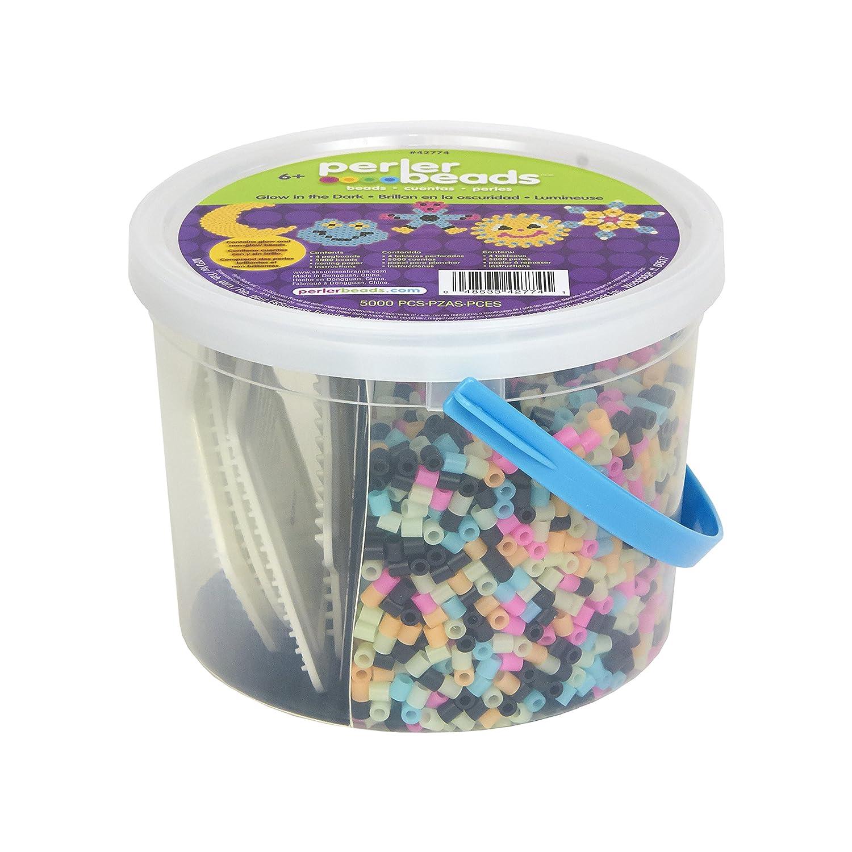 Perler Beads Glow in The Dark Multicolor Fuse Bead Bucket 5005 pcs