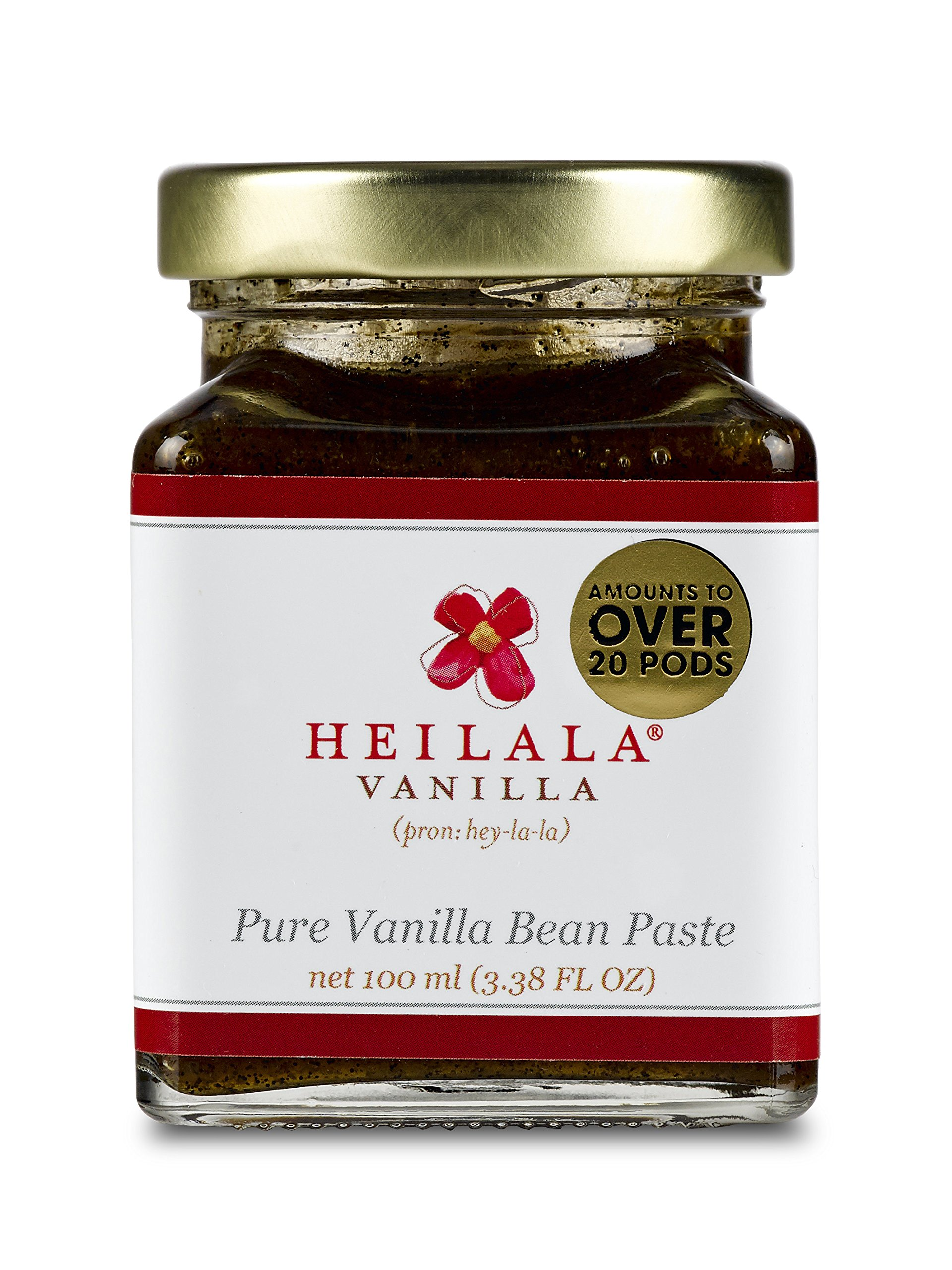 Pure Vanilla Bean Paste with Whole Seeds from Organically Grown Vanilla Beans 3.38 fl oz Glass Jar
