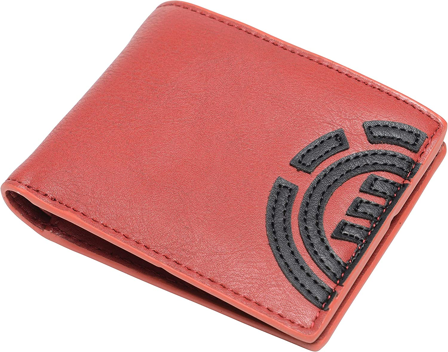 Note and Coin Pockets ~ Daily red dahlia Element Wallet with CC