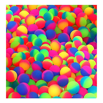 SNInc. ICY Balls in Bright 2 Two Tone Colors - 27mm Bouncy Balls - Bulk Pack of 144: Toys & Games