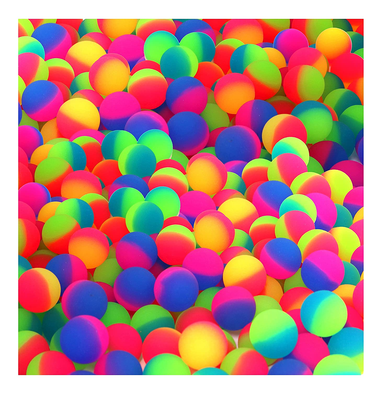 Icy Balls In Bright 2 Two Tone Colors 27mm Bouncy Balls Bulk Pack Of 144