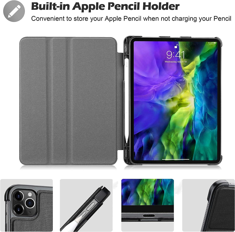 ProCase Buchdeckel H/ülle f/ür iPad Pro 11 Zoll 1st 2018//2nd Gen 2020 Klapp Leicht TPU Schutzh/ülle Urban Folio Case Smart Cover,Multi Ansichtsmodus+Auto Schlaf//-Wachfunktion Schwarz