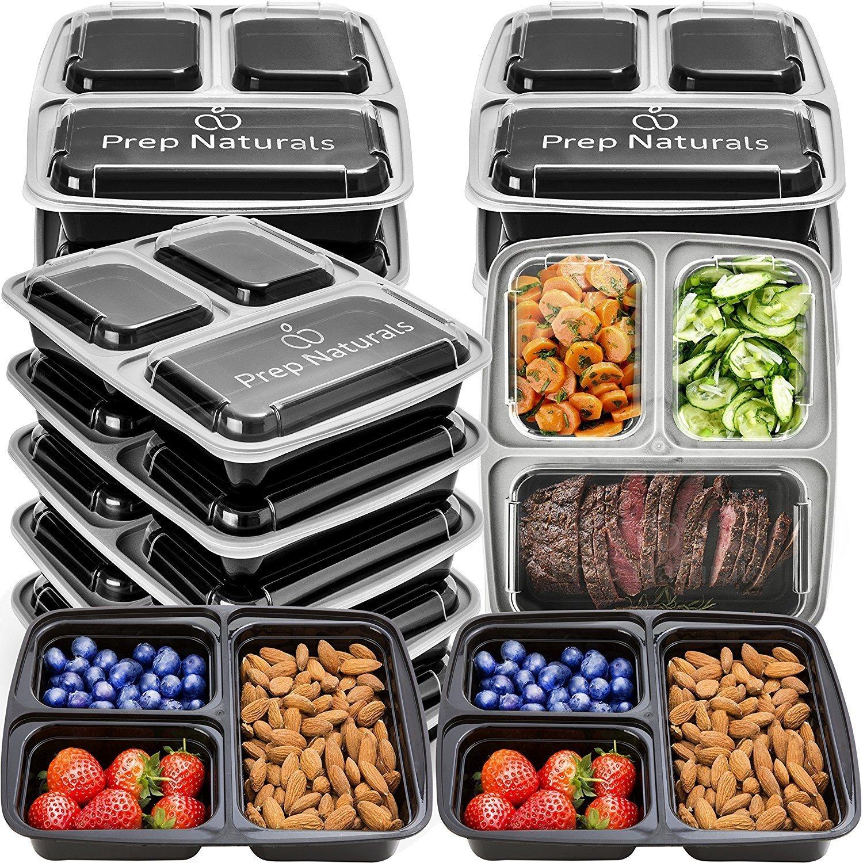 Romote de comidas de preparación Contenedores 3 Compartimiento ...