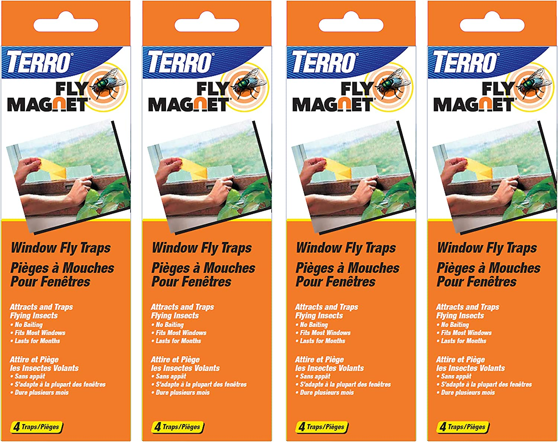 Terro T520SR Window Fly Traps-4 Pack, Clear