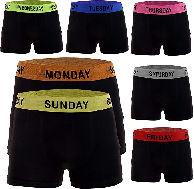 7 Pack Universal Textiles Mens Assorted Mood Boxers