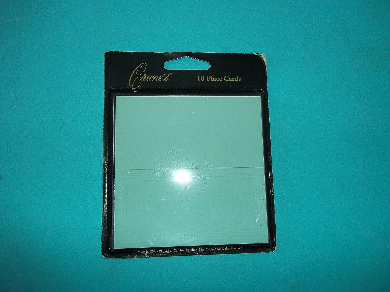 Crane CC8062 10 Placecards Blue Made in USA Limit 1 Per Customer