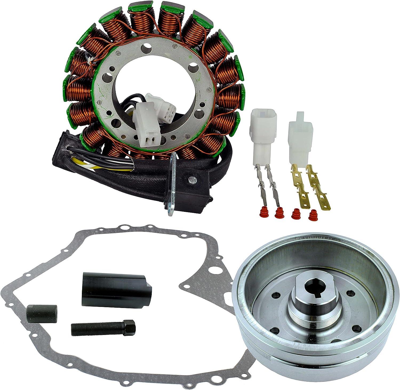 Crankcase Cover Gasket Voltage Regulator Rectifier for Arctic Cat 400 Auto 2003-2008 Kit Improved Flywheel OEM Repl.# 3430-054 3430-071 0802-037 3430-053 3402-590 3402-682 3530-028 Stator