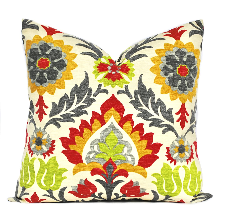Waverly Garden Images Throw Pillow  Cover    18 x 18  New Handmade