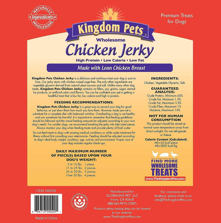 Kingdom Pets Premium Chicken Jerky Dog Treats 48 Oz