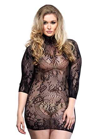 d2e00ff66fc Leg Avenue Women s Open Back Mini Dress with 3 4 Sleeve at Amazon ...
