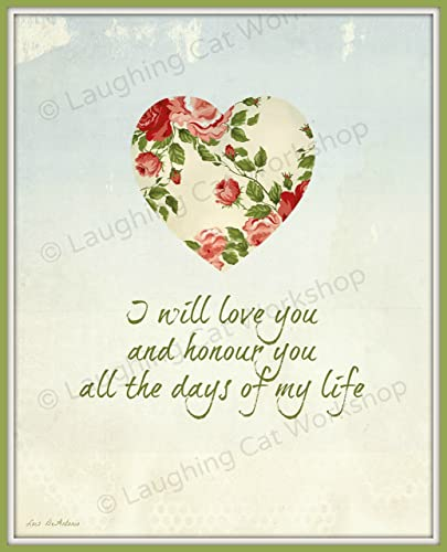 Romantic Wedding Vows.Amazon Com Romantic Wedding Vows Print Victorian Garden