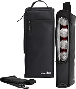 Athletico Golf Cooler Bag - Soft Sided Insulated Cooler Holds a 6 Pack of Cans or Two Wine Bottles (Black)