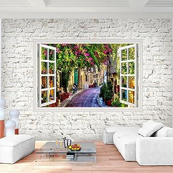 Fototapete Fenster Toscana 352 x 250 cm Vlies Wand Tapete Wohnzimmer ...