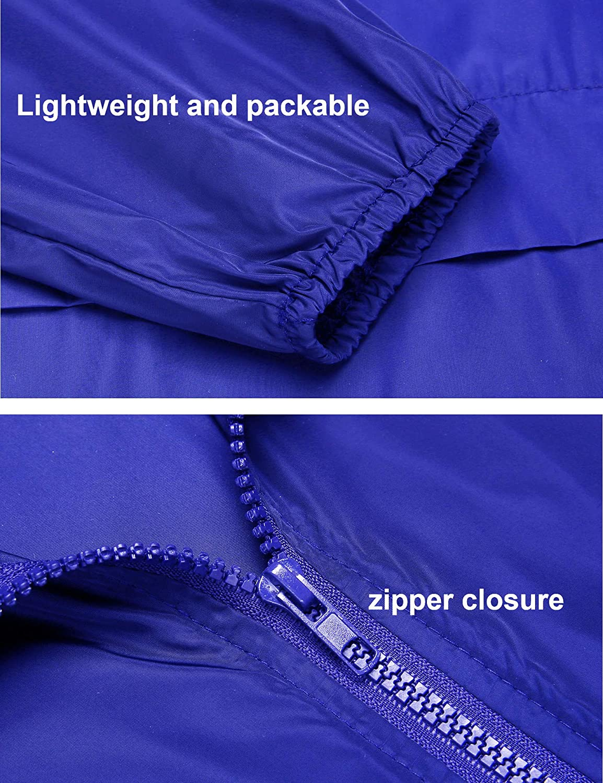 Womens Lightweight Raincoat Waterproof Packable Rainwear Outdoor Windproof Hooded Active Rain Jacket