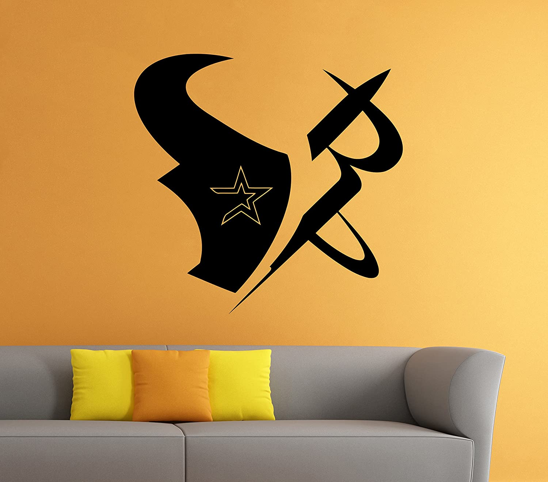 Houston Texans Wall Vinyl Decal Sticker NFL Emblem Football Team ...