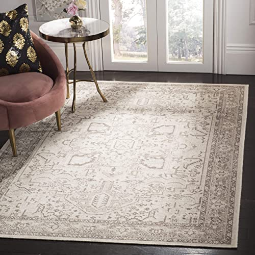 Safavieh Essence Collection ESS750A Wool Area Rug, 5 1 x 7 6 , Natural Taupe