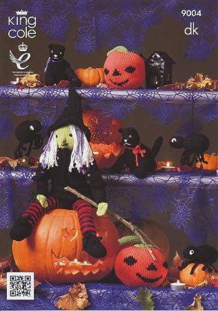 King Cole Strickmuster 9004 -Halloween Muster: Hexe, Kürbis, Spinne ...