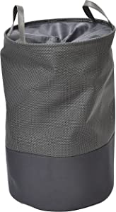 """EVIDECO 8491180 Pop-Up Collapsible Laundry Hamper with Closing Mesh Grey, 14"""" Diameter x 22.5 inches H (36 Diam x 57 cm), Gray"""