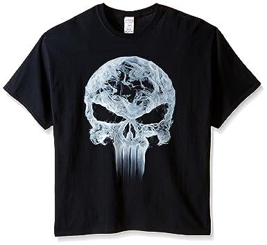 da324a8e1 Marvel Men's Punisher Classic Logo Smoke Men's T-Shirt, Black, ...
