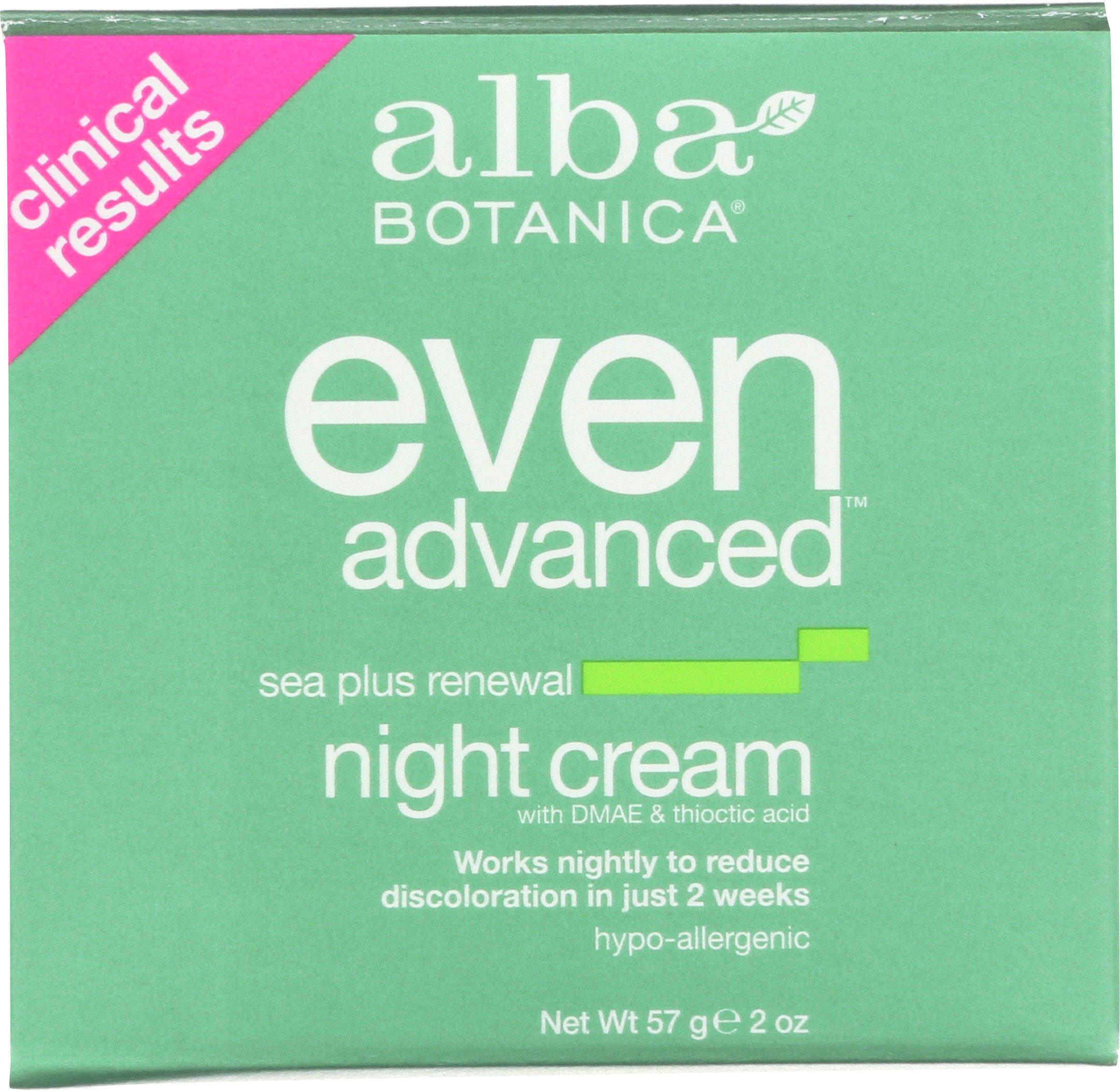 Alba Botanica Even Advanced, Sea Plus Renewal Night Cream, 2 Ounce