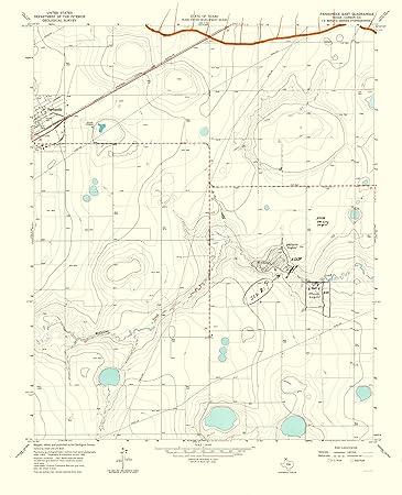 Amazon.com: Topographical Map Print - Panhandle, East Texas Quad ...