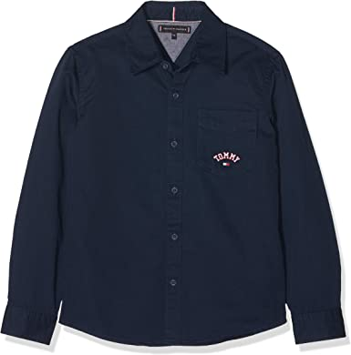 Tommy Hilfiger Tommy Solid Twill Shirt L/S Camisa Manga Larga para Niños