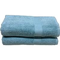 Trella 100% Cotton 2 Piece 500 GSM Large Cotton Bath Towel Set :: 140 x 70 cm