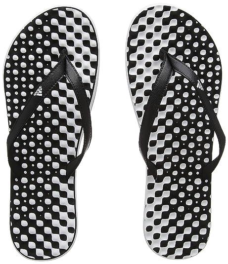 Adidas Cloudfoam Flip Flop, Zapatos de Playa y Piscina para Mujer, Negro (Negbas/Negbas/Aeroaz 000), 38 EU