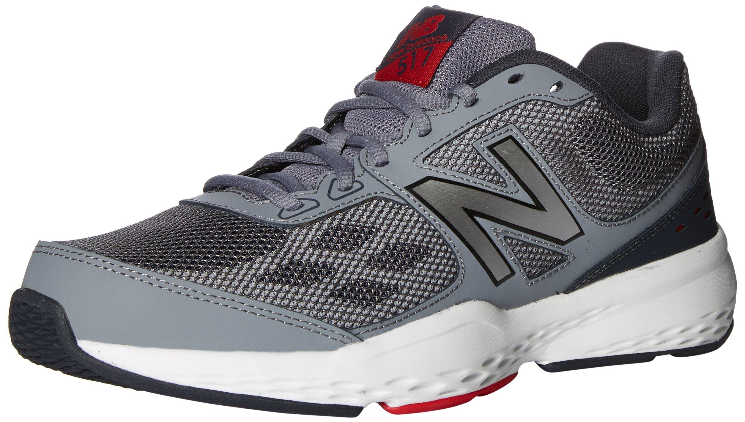 New Balance Men's MX517v1 Training Shoe, Grey/Red, 12 D US by New Balance