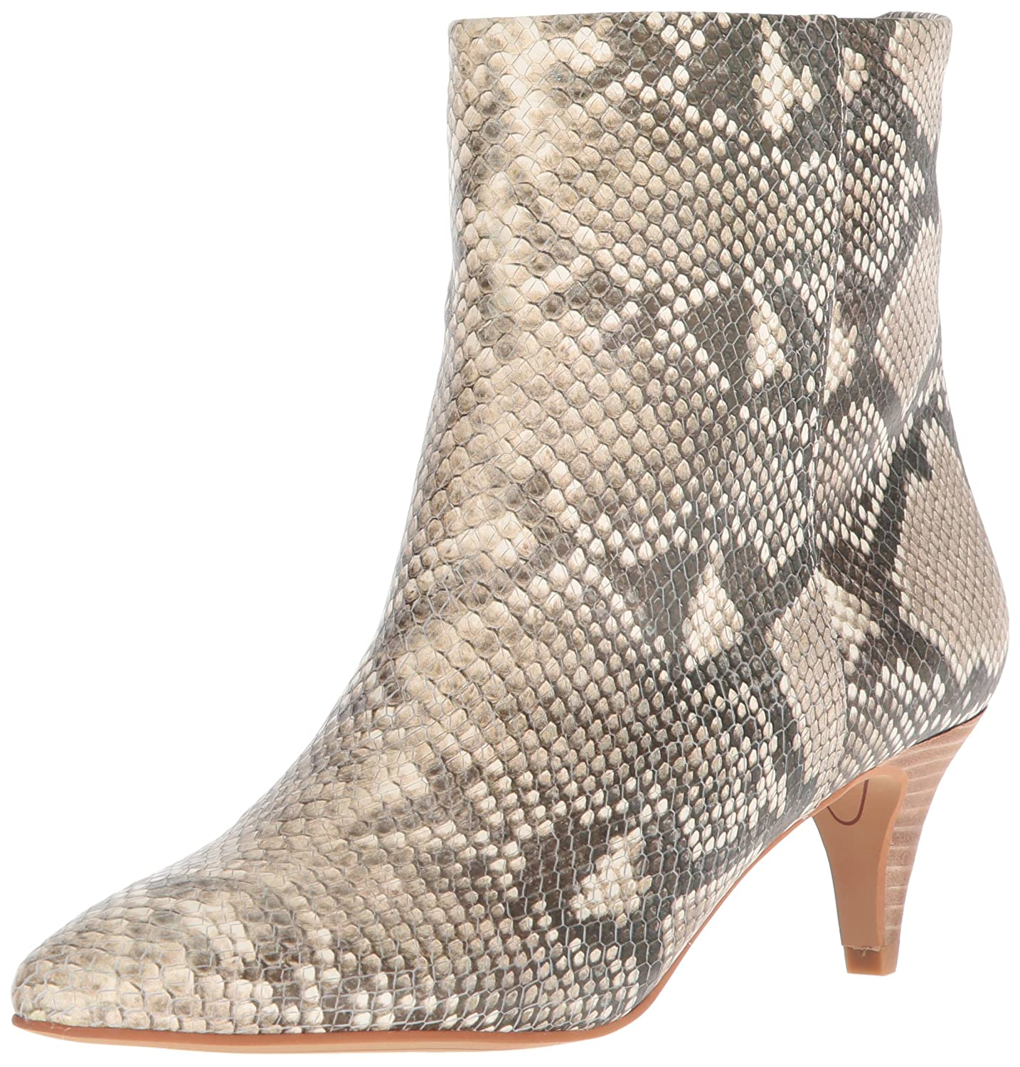 Dolce Vita Women's Deedee Ankle Boot B079Q2KRBX 8.5 B(M) US|Snake Print Embossed Leather