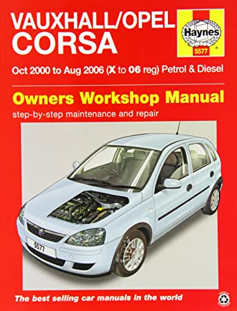 vauxhall opel corsa service and repair manual 2000 2006 haynes rh amazon co uk vauxhall/opel corsa b workshop manual vauxhall/opel corsa service and repair manual download