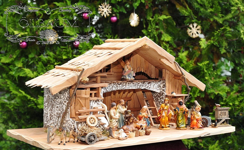 oelbaum krippe k80 mf skr t2lf2 xxl gro e weihnachtskrippe mit granitbrunnen wassergrand. Black Bedroom Furniture Sets. Home Design Ideas