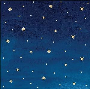 Stars and Gold Foil Beverage Napkins by Elise, 72 ct