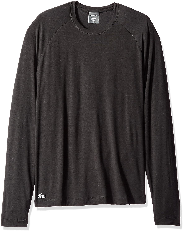 Lacoste Mens L/S C/N Sleep Tee Black XX-Large Lacoste Men' s Sleepwear RAM2504