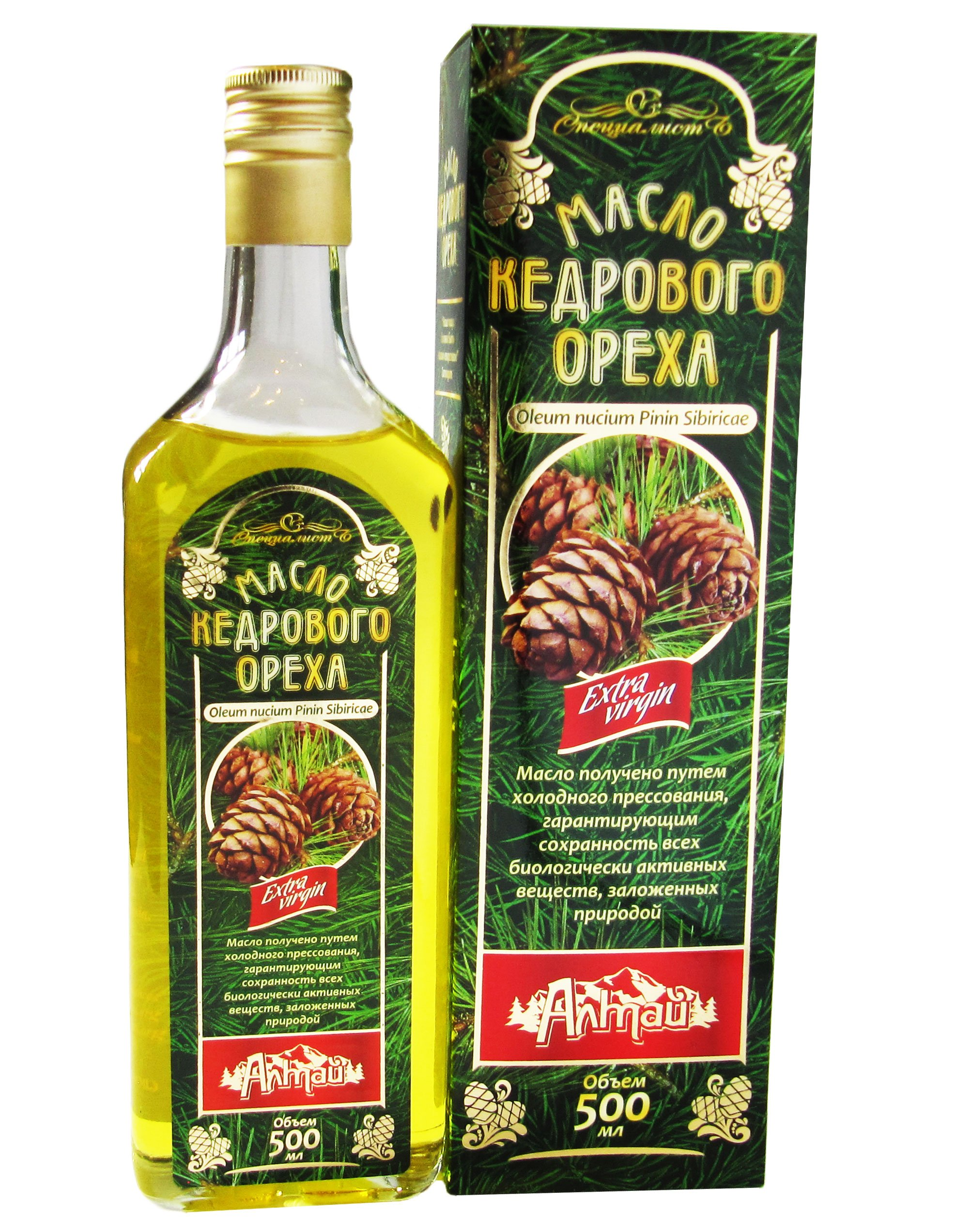 PINE NUT OIL - 17.5 oz/500ml. First Grade, Authentic and 100% Natural, Extra Virgin, Unfiltered, First Press Only, Cold-pressed. Pressed from Wild Harvested, Organic, Raw Pine Nuts.