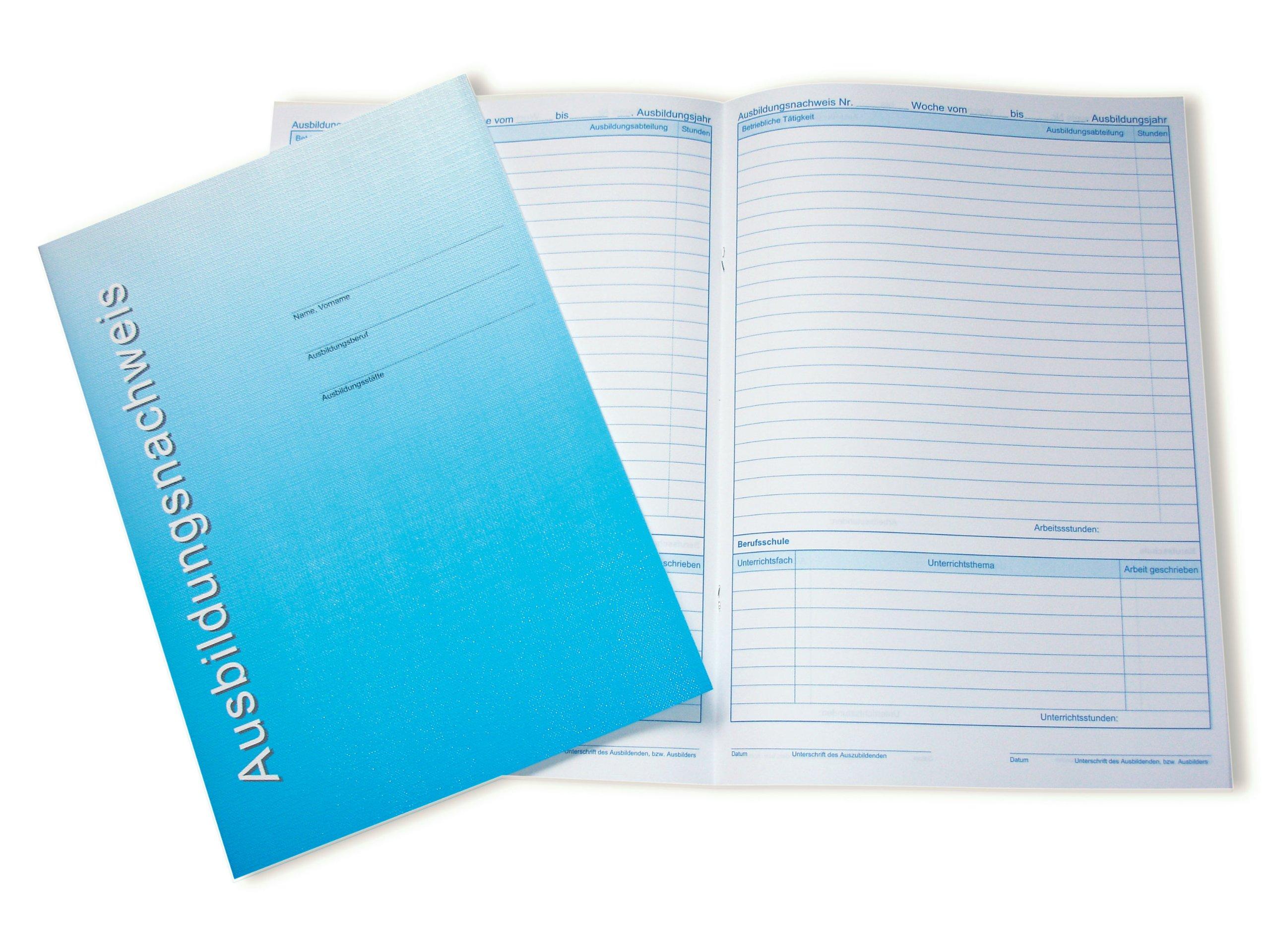 Berichtsheft / Ausbildungsnachweisheft wöchentliche Berichte