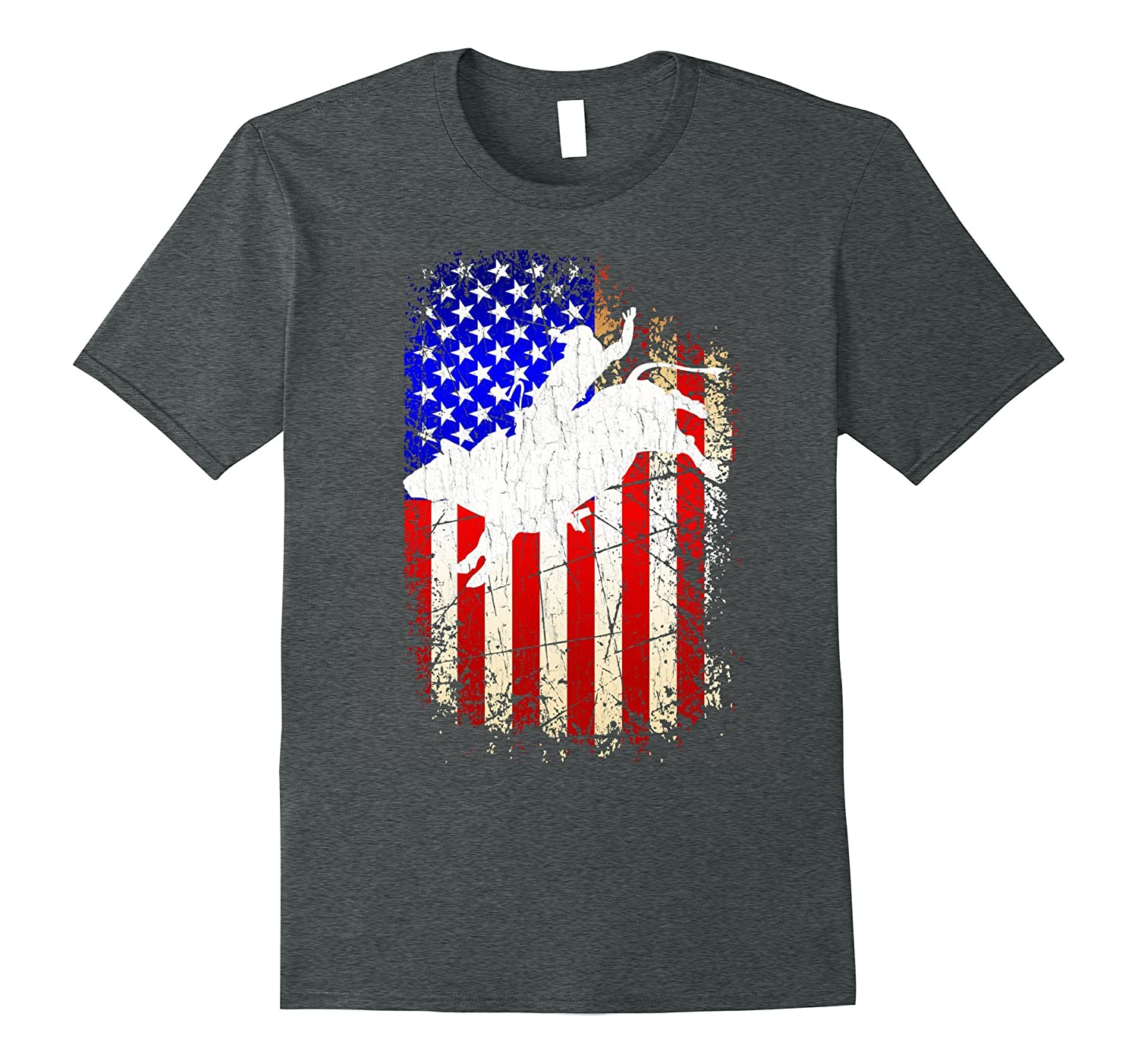 4th of July Rodeo Shirt Patriotic American Flag Gift T-Shirt-PL