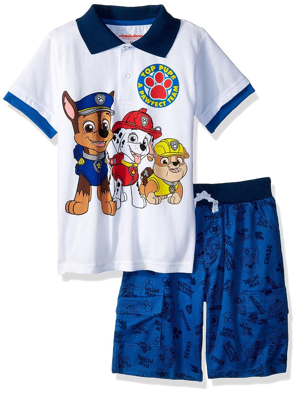 2eebdb8c6 Amazon.com: Nickelodeon Boys' Paw Patrol Polo Short Set: Clothing
