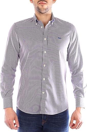 Harmont&Blaine - Camisa de Rayas, Color Azul: Amazon.es: Ropa ...