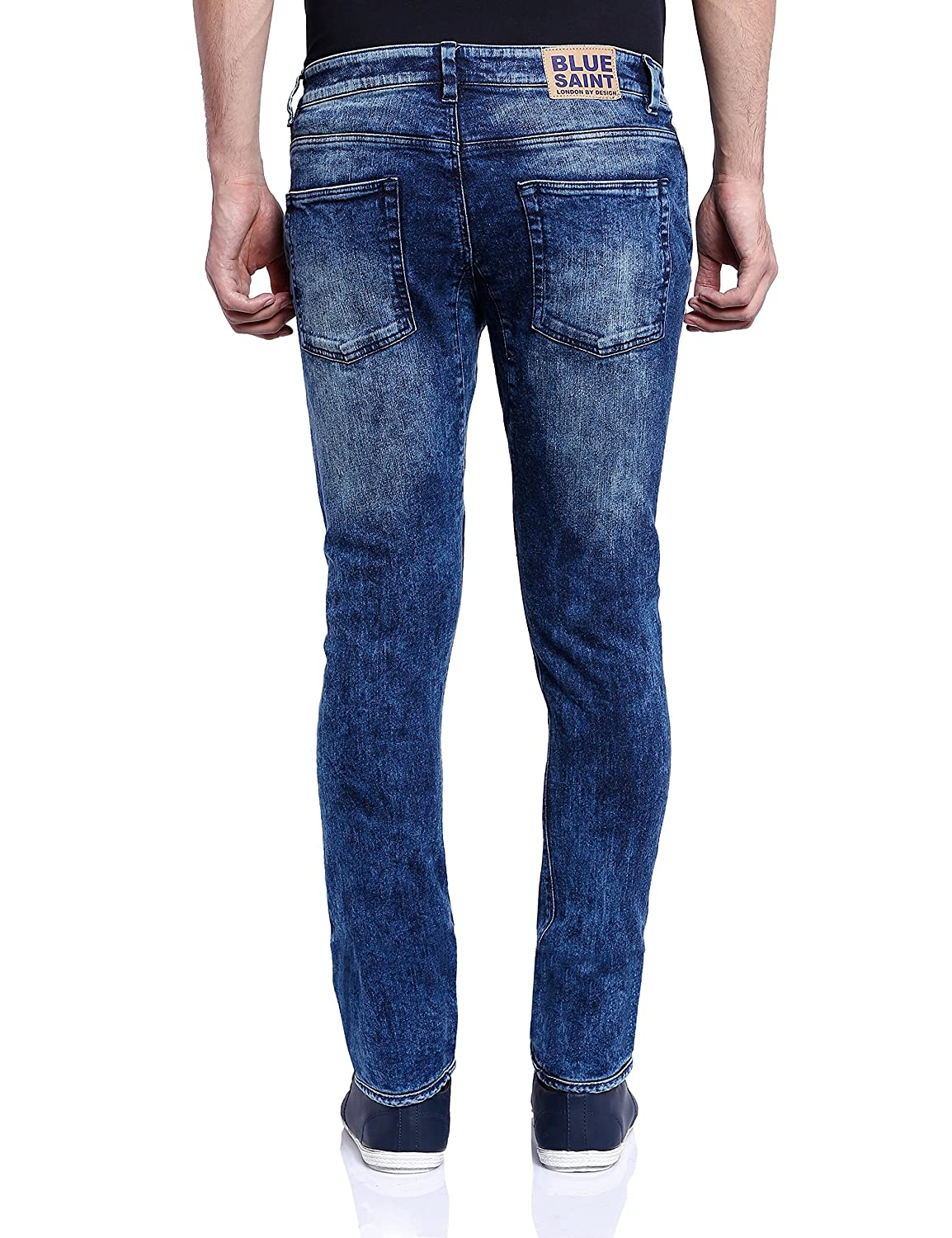 39f328930f Blue Saint Men s Blueberry Slim Fit Jeans  Amazon.in  Clothing   Accessories
